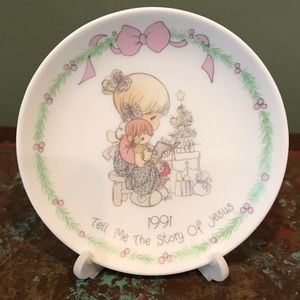 Precious Moments Plate 1991 Tell Story Of Jesus